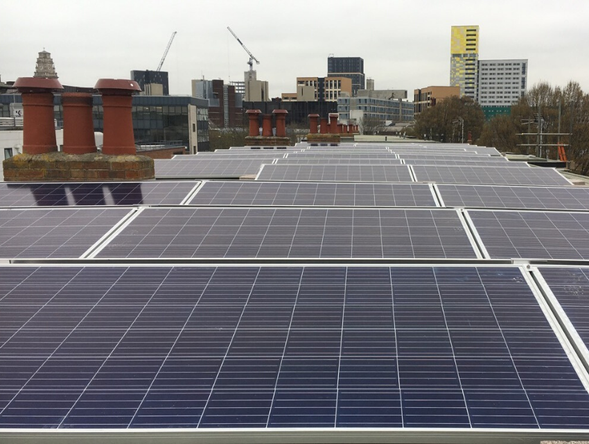 Solar panels on Somerstown flats
