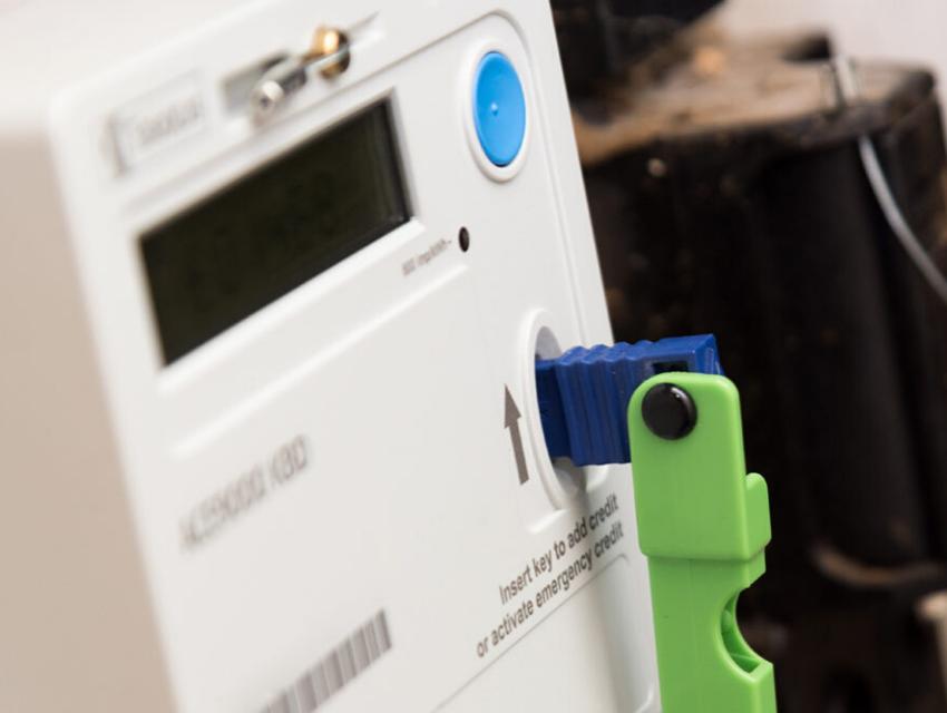 Key meter with key in